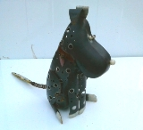 Iron Terrier Dog Statue Outdoor Decor Gift