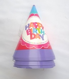 Happy Birthday Party Hats 8pcs