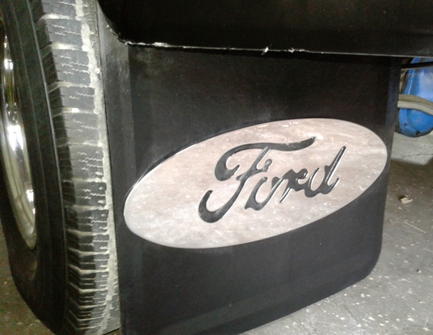 24H X 18W Mud Flaps with Ford Logo Ford F350 Dually
