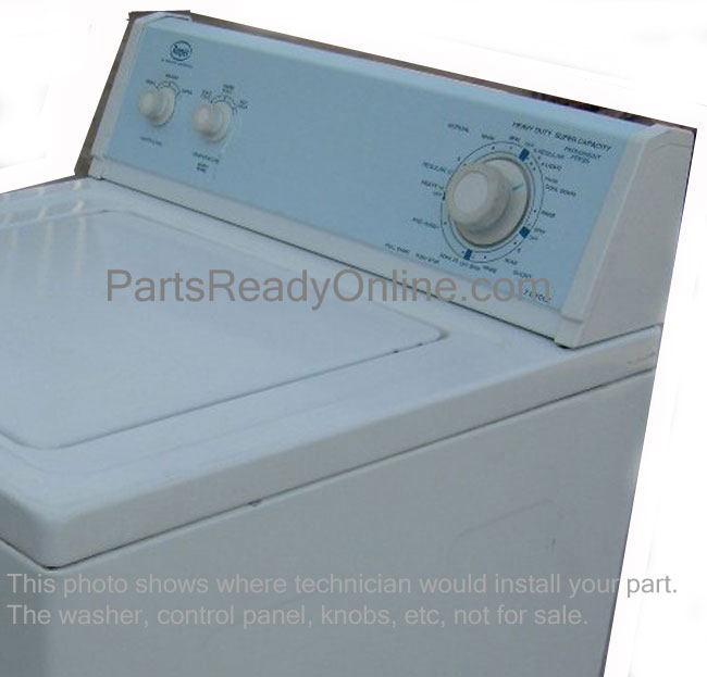 Roper Washer End Cap. Roper Dryer Control Panel End Cap. Right Endcap WHITE