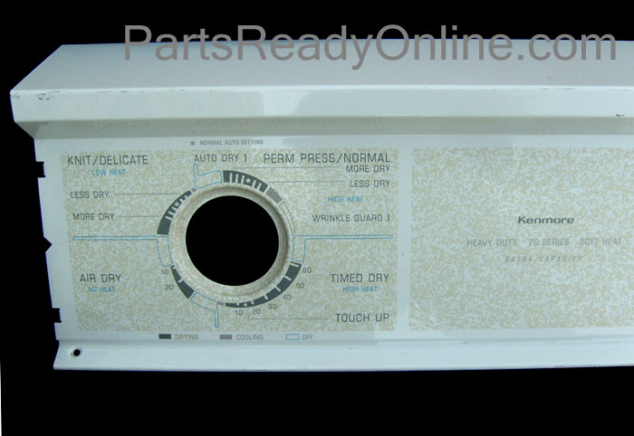 Kenmore Dryer Control Panel 70 Series Soft Heat. Kenmore Dryer Console