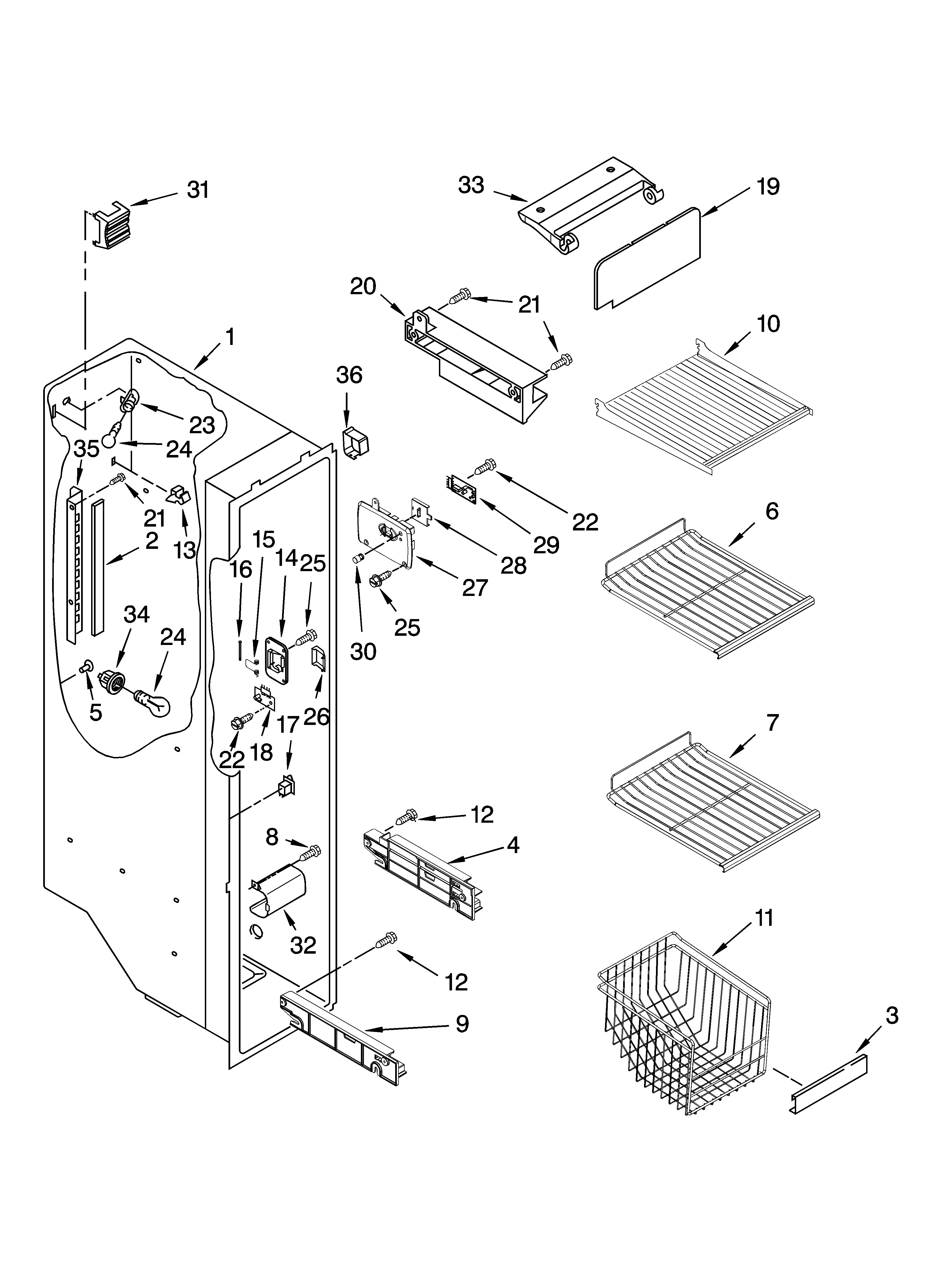 Kitchenaid Side By Refrigerator Parts Diagram  U2013 Wow Blog